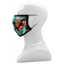 Waschbare 2-lagige Maske Schwarz mit LOGO